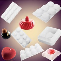 Bakeware cake mold Mousse baking mold Soap Pudding Ice Cream Custard Breads Cake Pastry Art Pan Bakeware Kitchen accessories