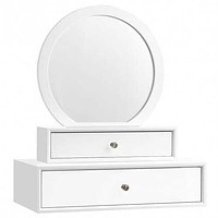 Wall Mounted Mirror Vanity with Drawers