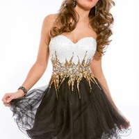 Sequined Tulle Dress by Party Time