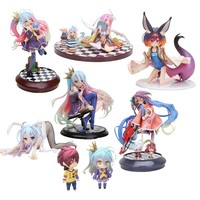 Anime Life No Game No Life Shiro Nendoroid Shiro 653# Game of Life Painted scale PVC action figure character model
