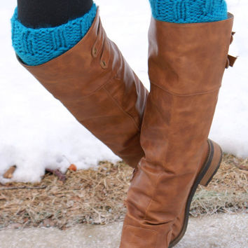 Women's Boot Cuffs - ELECTRIC BLUE
