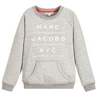 Marc Jacobs Boys Grey Logo Sweatshirt (Unisex)