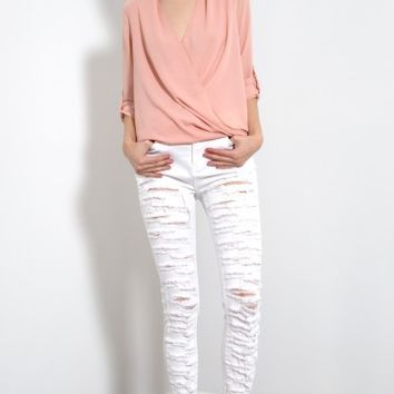 Distressed and Ripped Skinny Jeans | MakeMeChic.com