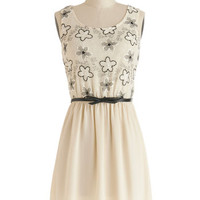 ModCloth Mid-length Tank top (2 thick straps) A-line Room for Dessert Dress
