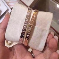 Bvlgari Logo Snakes High Carbon Aaaa Masonry Bracelet Hand Chain In 18k Gold Plating S925 Silver Hollowed Out | Best Deal Online