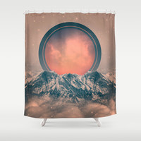 To Rise Again (Solar Eclipse) Shower Curtain by Soaring Anchor Designs