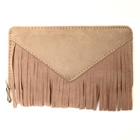 For Fringe Sake Wallet in Beige