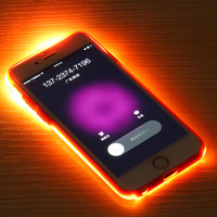 Battery Glow Protector Cover Housing Case For iPhone 5 Hybrid LED Back Screen Film Coverage Case For iPhone 6s Plus