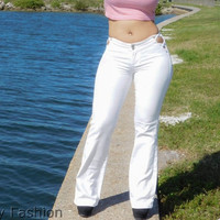 Brazilian Boot cut jeans with side hip cutouts