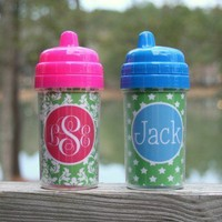 Monogrammed Sippy Cup TinyTulip.com We're All About Personalization - Gifts Monogram Embriodery
