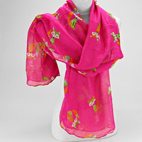 The Fox Pink Spring Scarf