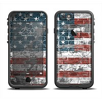 The Vintage USA Flag Apple iPhone 6 LifeProof Fre Case Skin Set