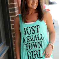 Small Town Girl {Mint Tank}