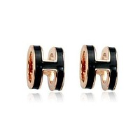 Hermes fashion women's letter fashion feminine earrings