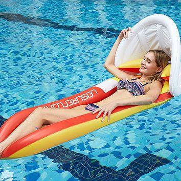 Swimming Pool Beach Float Bed Inflatable Ring Cushion Float Bed Lounge Chair Mattress Hammock Water Sport