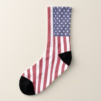 Patriotic All Over Print Socks with Flag of USA