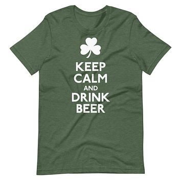 Keep Calm and Drink Beer Short-Sleeve Unisex T-Shirt