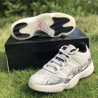 "Air Jordan 11 Low Snakeskin ""Light Bone"" - Best Deal Online"