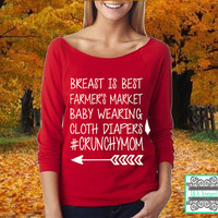 Breast Is Best Farmer's Market Baby Wearing Cloth Diapers #CrunchyMom - Raw Edge 3/4-Sleeve Raglan