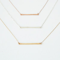 Small Bar Pendant Necklace