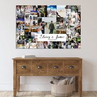 Family Photo Print Wall Art Canvas Family Collage Custom Pictures Collage Personalized Wall Decor