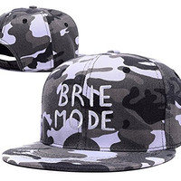 BIYJ WWE Brie Bella Brie Mode Logo Embroidery Camouflage Cap Camo Snapback Hat