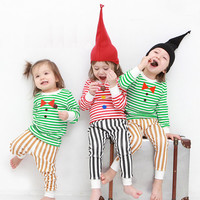 Clearance sale! limited quantity available! kids Christmas pajamas-Striped / Christmas PJs / Christmas Pajamas for kids / toddler size  6-7
