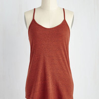 Minimal Mid-length Spaghetti Straps Peace and Kayak Top in Cumin