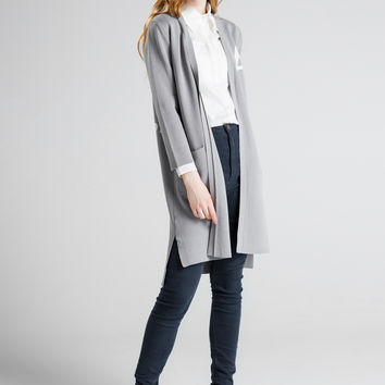 Knit Tops Casual V-neck Three-quarter Sleeve Jacket [9056659206]