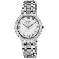 """Citizen Women's EM0120-58A  """"Bella"""" Stainless Steel and Diamond Eco-Drive Watch"""