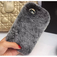 Luxury Rabbit Fur Phone Case Cover Protector for iphone 6,iphone 6 plus,iphone 5,iphone 5s,iphone 4s,samsung note 4,samsung note 3,samsung S5 I9600,Samsung S4 i9500 = 1932566852