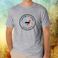 twenty one pilots gray T-shirt