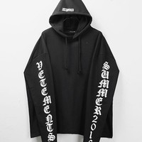 Mens Oversized Logo Sleeve Hoodie at Fabrixquare