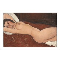 FAMOUS IMAGE RECLINING NUDE amedeo modigliani VINTAGE ART POSTER 24X36 hot