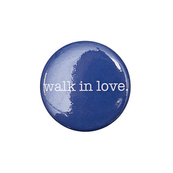 walk in love. Navy Button