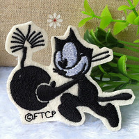 Felix the cat and bombs iron on patch E0338
