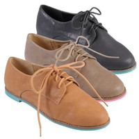 Hailey Jeans Co Womens Round Toe Lace-up Oxfords