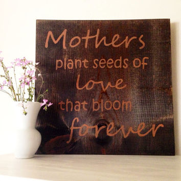 Customizable Mother Sign, Stained and Hand Painted, home decor, mother's day, mom gift