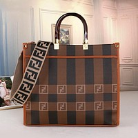 Fendi FF hot sale classic tote bag handbag fashion lady shoulder messenger bag