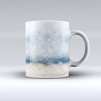 The Unfocused Blue and Gold Sparkles ink-Fuzed Ceramic Coffee Mug