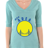 BAE Area - Football V-Neck Tee