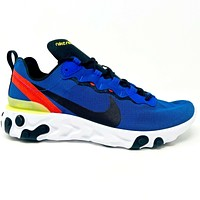 Nike React Element 55 Game Royal Yellow Red Mens Size 10 BQ6166 403