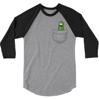 Pocket Pickle Rick 3/4 Sleeve Shirt