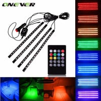 Car RGB LED Strip Light Music Control LED Strip lights 8 Colors Car Styling Atmosphere Lamps Car Interior Light With Remote