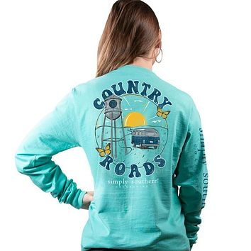 Simply Southern Preppy Country Roads Long Sleeve T-Shirt