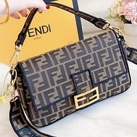 Fendi New fashion more letter leather shoulder bag crossbody bag women handbag