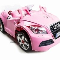 Kids Double Engine 12v Ride on Power car Battery Upgrade MP3 Connection Audi TT 2 motor and single seat car