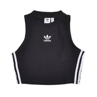adidas CROP Tank Top black// bei KICKZ.com