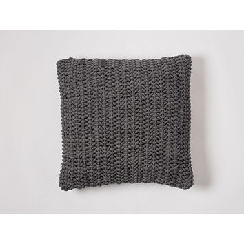 Shadow Woven Rope Decorative Pillow by Coyuchi