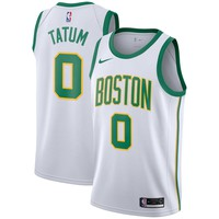 Men's Boston Celtics #0 Jayson Tatum Nike White 2018/19 Swingman Jersey – City Edition - Best Deal Online
